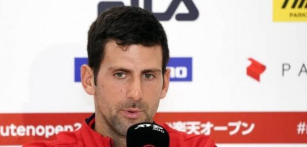 Rueda de prensa de Novak Djokovic tras el partido con Soeda. Foto: Getty