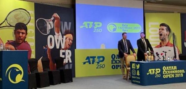 Imagen del sorteo del ATP 250 de Doha. Fuente: Twitter