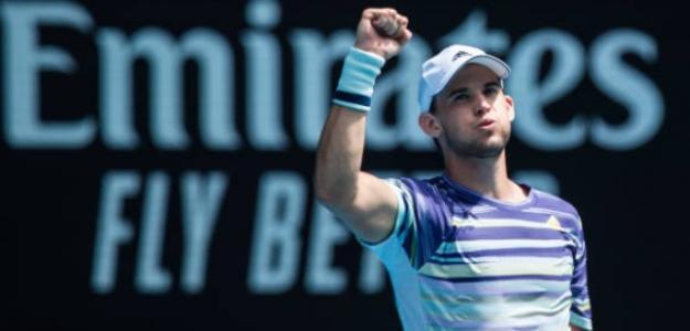 Dominic Thiem, tras vencer a Monfils en octavos de Australia. Foto: Getty