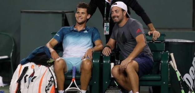 Dominic Thiem y Nicolás Massú en Roland Garros 2019. Foto: zimbio