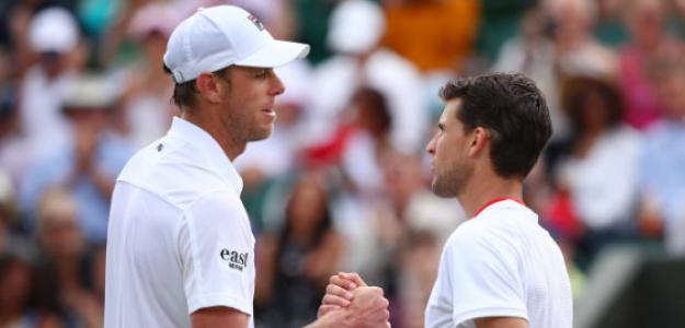 Dominic Thiem pierde con Sam Querrey en Wimbledon 2019. Foto: zimbio