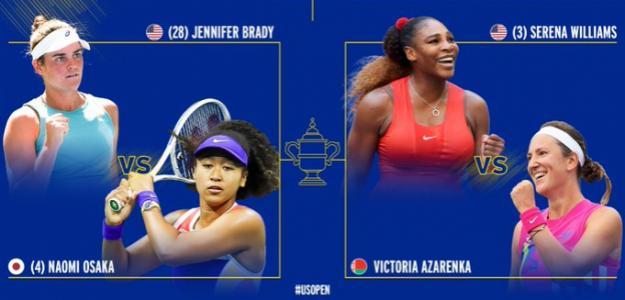 Semifinales del US Open 2020. Fuente: @usopen