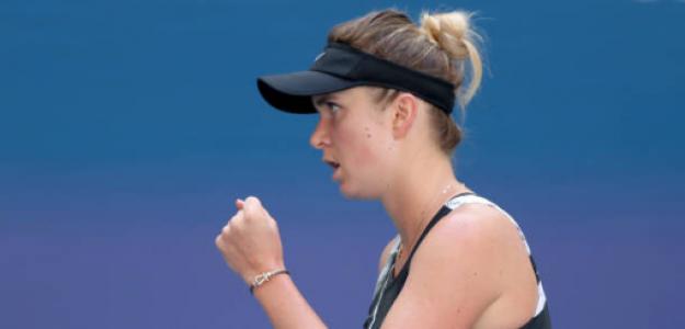 Elina Svitolina celebra en su duelo de cuartos. Fuente: Getty