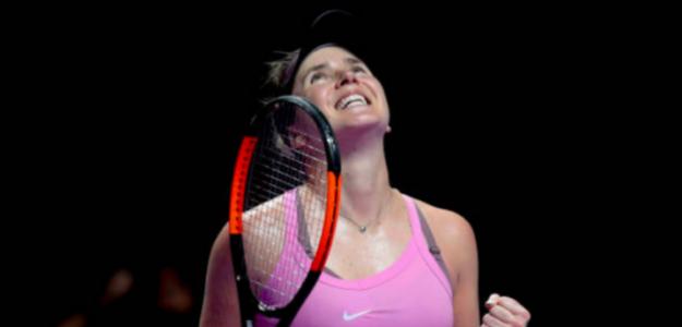 La alegría de Svitolina al acceder a la final. Fuente: Getty