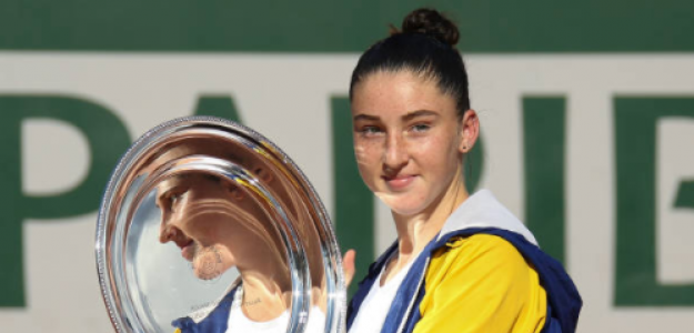 Elsa Jacquemot, promesa junior del tenis francés. Foto: gettyimages