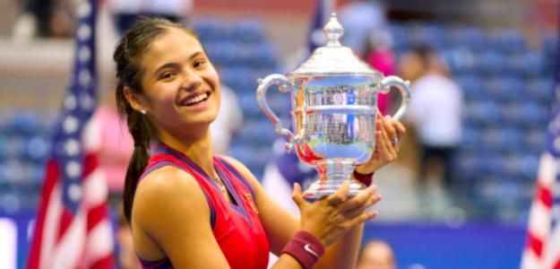 Emma Raducanu, campeona del US Open 2021. Fuente: Getty