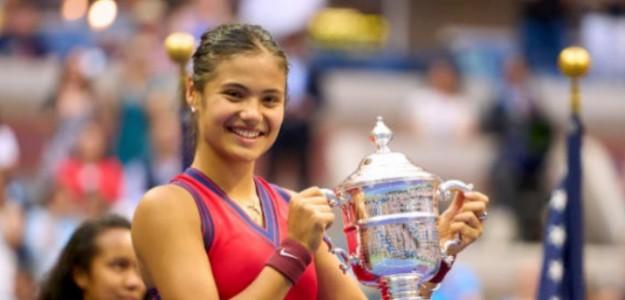 Emma Raducanu, primera británica en ganar un 'major' desde 1977. Foto: Getty