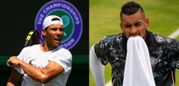 Rafa Nadal y Nick Kyrgios en segunda ronda de Wimbledon 2019. En directo.