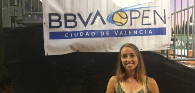 Beatriz García Vidagany durante el BBVA Open Ciudad de Valencia 2019. Fuente: Fernando Murciego