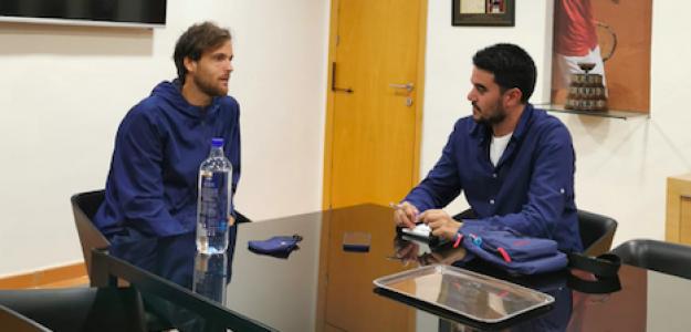 Joao Sousa en su entrevista con Fernando Murciego. Fuente: PDB