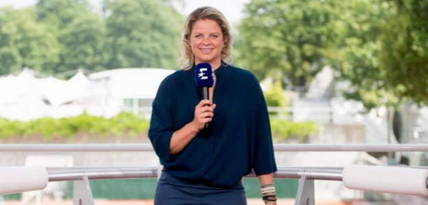Entrevistamos a Kim Clijsters. Foto: Eurosport.
