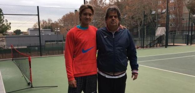 Edu Güell y Javier Duarte durante un entrenamiento