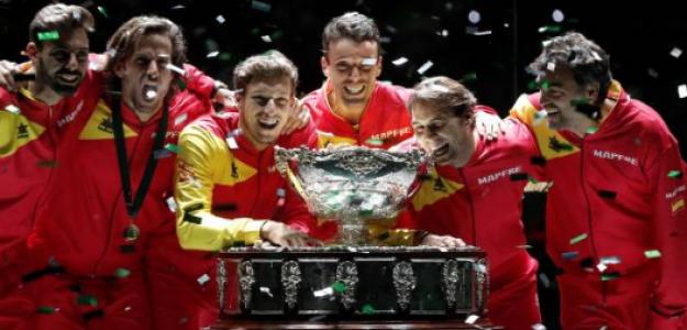 Equipo español de Copa Davis. Fuente: Getty