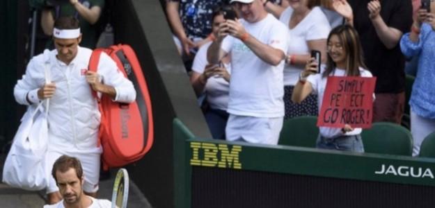 La chica del póster de Federer. Foto: Twitter