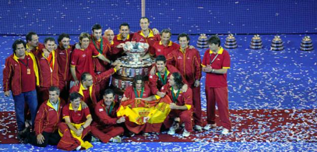 España celebra su tercera Copa Davis. Fuente: Getty