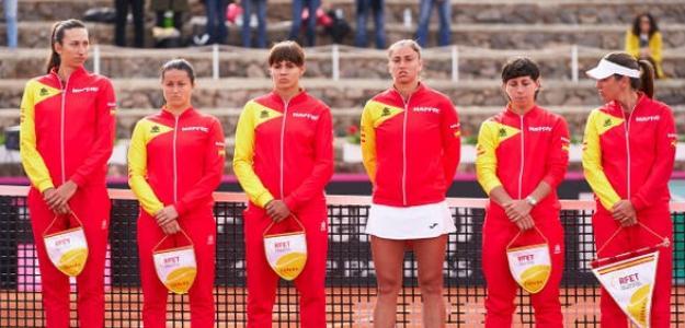 Fed Cup 2020: España-Japón. Declaraciones de las españolas tras el 2-0 al equipo nipón. Foto: Getty
