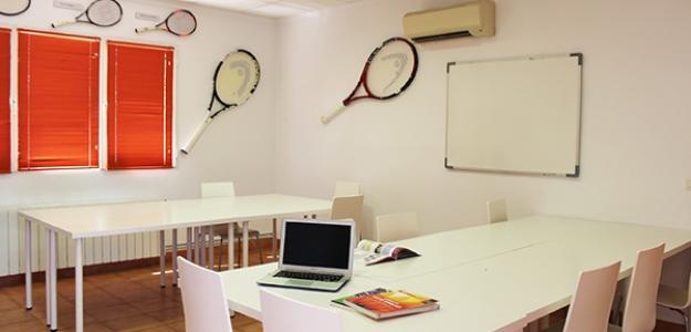 Una de las aulas de la Academia Equelite.