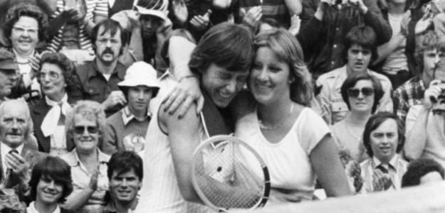 Martina Navratilova y Chris Evert. Foto: WTA