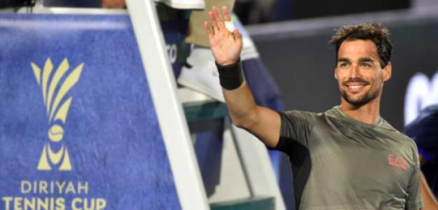 Fabio Fognini en pretemporada. Fuente: Getty