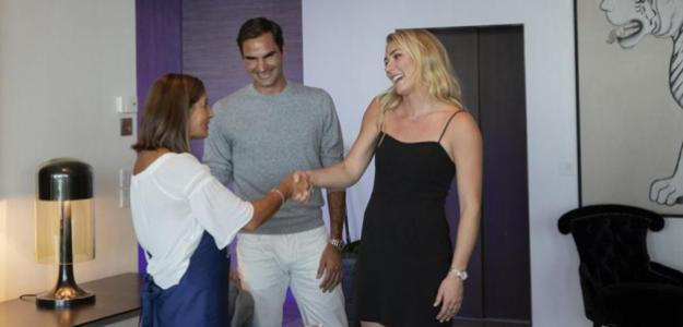 Federer aficionada. Foto: barrilla.es