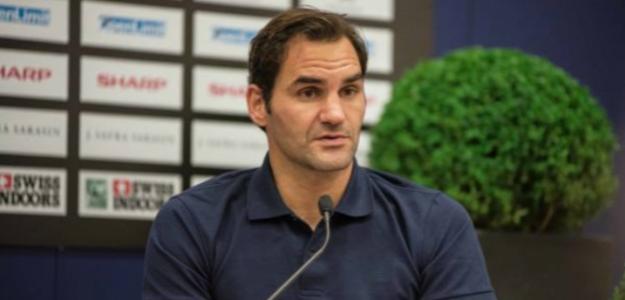 Roger Federer, en Basilea. Foto: Getty