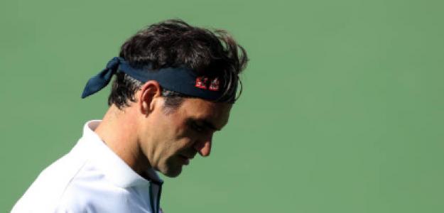 Roger Federer durante el partido de hoy. Fuente: Getty