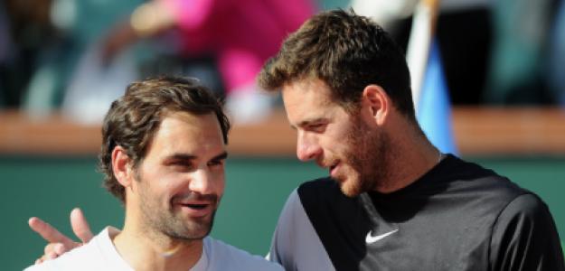 Roger Federer aconseja a Del Potro. Foto: gettyimages