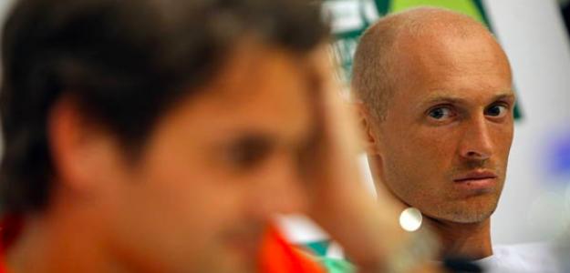 La mirada de Davydenko sobre Federer lo dice todo. Fuente: Getty