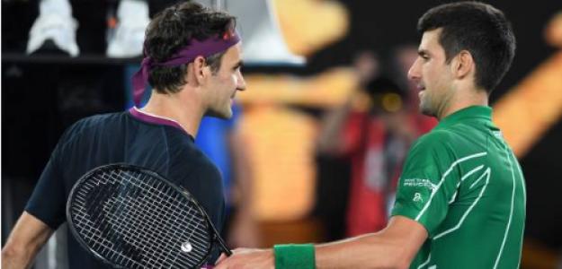 Federer y Djokovic tras las semifinales en Australia. Fuente: Getty