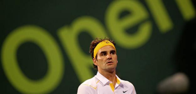 Roger Federer durante el torneo de Doha en 2011. Fuente: Getty