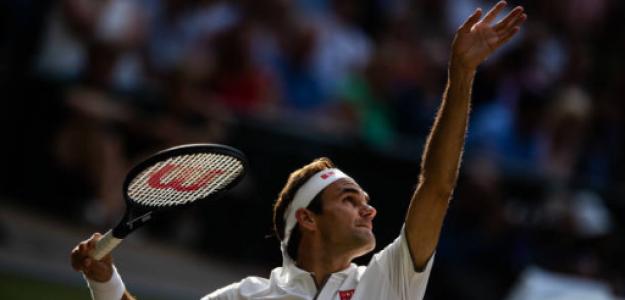 Roger Federer, en Wimbledon 2019. Fuente: Getty