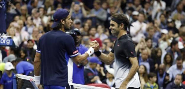 Roger Federer y Feliciano López, jugadores más veteranos. Foto: gettyimages