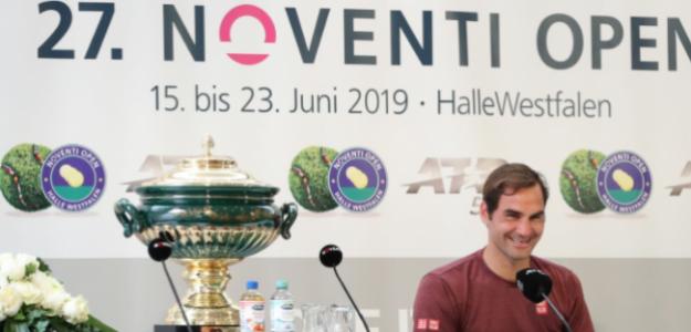 Roger Federer en Halle 2021. Foto: gettyimages