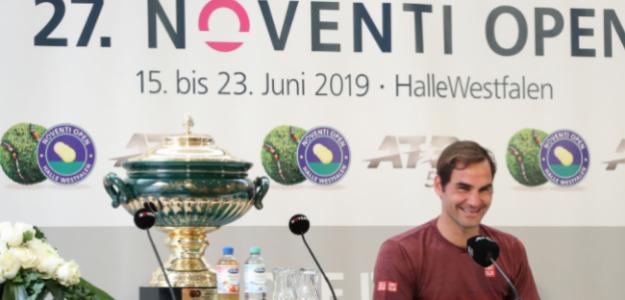 Roger Federer en Halle 2018. Foto: Getty