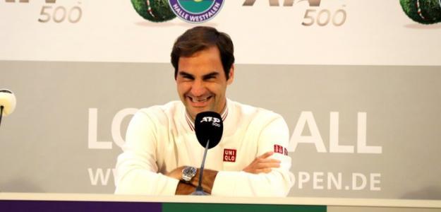 Roger Federer en Halle. Foto: Halle