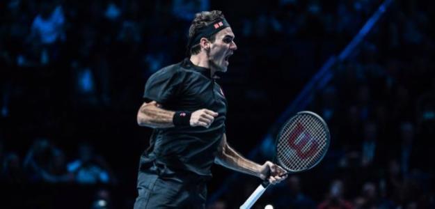 La explosión de Roger Federer. Fuente: ATP