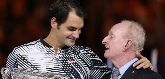 """Rod Laver: """"Si miras los números de Federer, hay mucho para asegurar que es el GOAT"""". Foto: Getty"""
