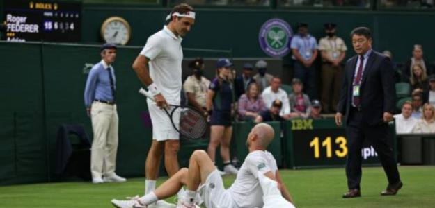 """Federer: """"Me sentí muy mal al verle, sobre todo por lo que pasé yo con mi rodilla"""". Foto: Getty"""