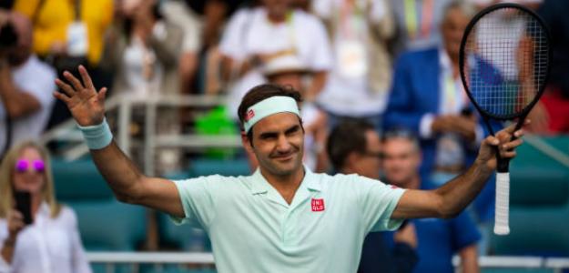 Roger Federer ya está en semifinales de Miami. Foto: Getty