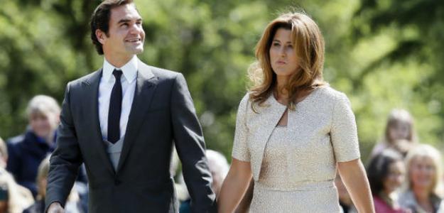 Roger y Mirka. El suizo destaca el papel de su mujer en sus éxitos. Foto: Getty