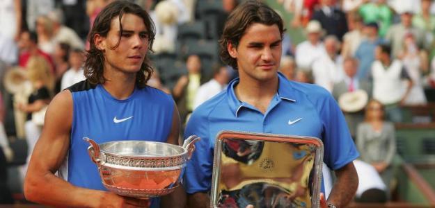 Federer y Nadal, final Roland Garros 2006. Foto: Getty