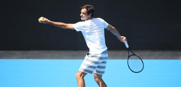 Roger Federer en Open Australia 2019. Foto: zimbio