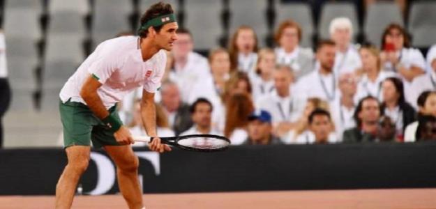 Federer revela cómo va la recuperación de su rodilla. Foto: Getty