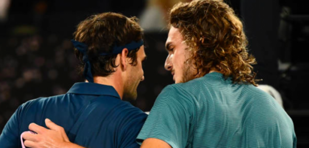 Tsitsipas pudo con Federer en Australia. Fuente: Getty