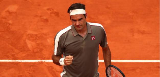 Roger Federer gana a Stan Wawrinka en Roland Garros 2019. Foto: gettyimages