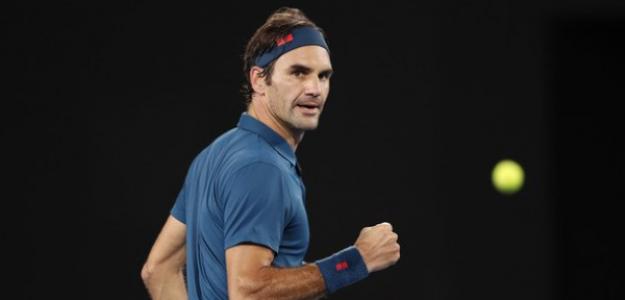 Roger Federer y los zurdos. Foto: Getty