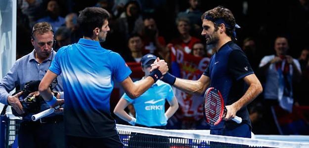 La rivalidad Federer-Djokovic en pistas indoor. Foto: Getty