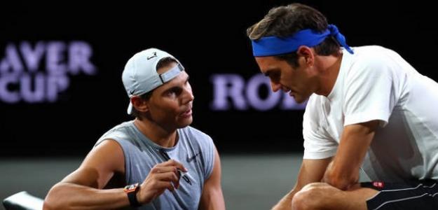 """Federer sobre Rafa: """"Es bueno que uno de tus mayores rivales sea también tu amigo"""". Foto: Getty"""