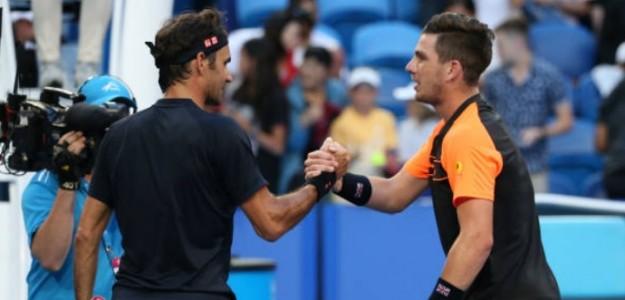 Ya se vieron las caras Federer y Norrie en la Copa Hopman en 2019. Foto: Getty
