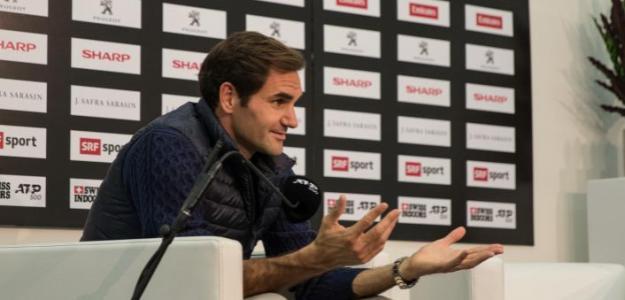 Roger Federer, durante la rueda de prensa en Basilea. Foto: Markus Peter (empepress.ch)